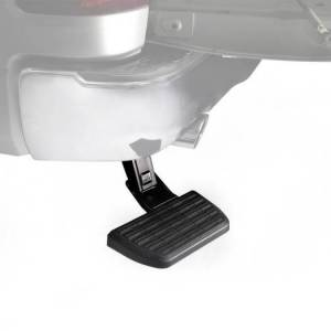 AMP Research - Innovation in Motion - AMP Research Bedstep Retractable Bumper Step | 75326-01A | 2020 Jeep Gladiator