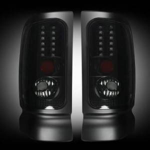 RECON - RECON 264170BK | LED Tail Lights - SMOKED (1994-2001 Dodge Ram 1500 & 1994-2002 Ram 2500/3500)