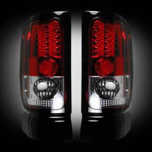 RECON - RECON 264170RD | LED Tail Lights - RED (1994-2001 Dodge Ram 1500 & 1994-2002 Ram 2500/3500)