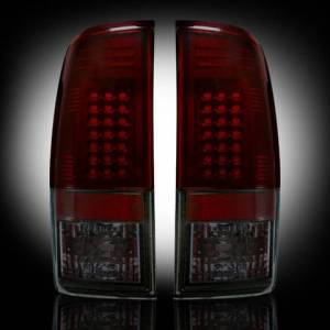 RECON - RECON 264172RBK | LED Tail Lights - RED SMOKED (1999-2007 Ford Superduty F250 - F650 & 1997-2003 F-150)