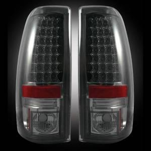 RECON - RECON 264173BK | LED Tail Lights - SMOKED (1999-2007 Silverado & Sierra) Classic