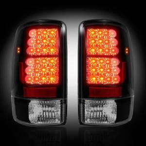 RECON - RECON 264177BK   LED Tail Lights - SMOKED (2000-2006 Tahoe, Yukon, Suburban, Denali)