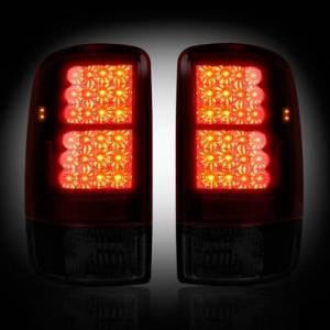 RECON - RECON 264177RBK | LED Tail Lights - RED SMOKED (2000-2006 Tahoe, Yukon, Suburban, Denali)