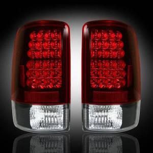 RECON - RECON 264177RD   LED Tail Lights - RED (2000-2006 Tahoe, Yukon, Suburban, Denali)