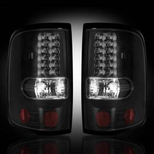 RECON - RECON 264178BK | LED Tail Lights - SMOKED (2004-2008 Ford F-150)