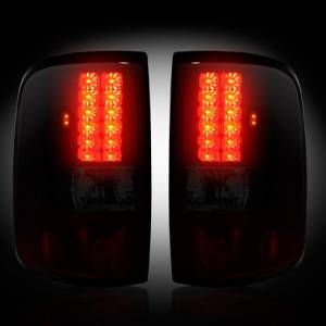 RECON - RECON 264178RBK | LED Tail Lights - DARK RED SMOKED (2004-2008 Ford F-150)