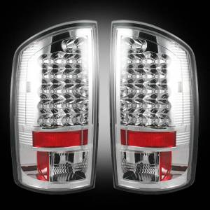 RECON - RECON 264179CL | LED Tail Lights - CLEAR (2007-2008 Dodge Ram 1500 & 2007-2009 Ram 2500/3500)