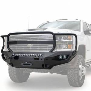 Fab Fours  - Fab Fours Matrix Front Bumper (Raw) | CH15-X2750-B | 2015-2019 Chevy HD