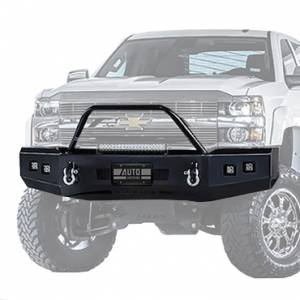 Ranch Hand - Ranch Hand Horizon Front Bumper w/ Top Ring | RNHHFC151BMT | 2015-2018 Chevy/GMC HD