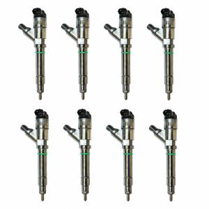 Exergy Performance - Exergy Performance New Bosch Injector Set (8) 30% Over   llyei30nb   2004-2005 Chevy/GMC Duramax LLY