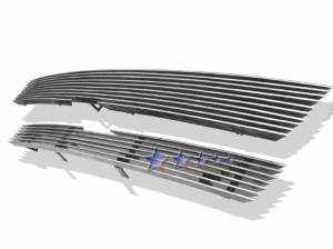 Dale's - C85307A - Dale's Main Upper Polished Aluminum Billet Grille - '02-05 Chevy Trailblazer LT/LS/SS