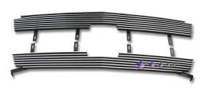 Dale's - C85317A - Dale's Main Upper Polished Aluminum Billet Grille - '03-04 Chevy Silverado 2500, Silverado 3500