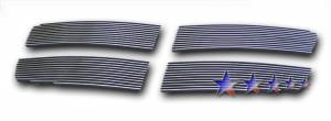 Dale's - Dodge 2007-2010 Durango (Main|4 Section) Polished Aluminum Billet Grilles