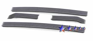 Dale's - F66827A - Dale's Main Upper Polished Aluminum Billet Grille - '11-12 Ford F-250 Super Duty XLT / Lariat / King Ranch