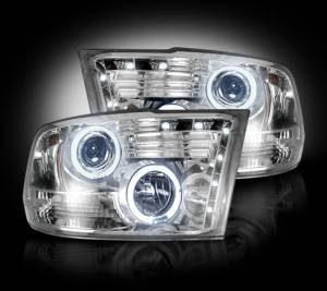 Recon - 2009-2013 Ram 1500 / 10-13 Ram 2500/3500 CLEAR Projector Headlights RECON Part # 264270CL