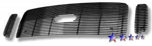 Dale's - F65707A - Dale's Main Upper Polished Aluminum Billet Grille - '99-04 Ford F-250 Super Duty, F-350 Super Duty, F-450 Super Duty, F-550 Super Duty