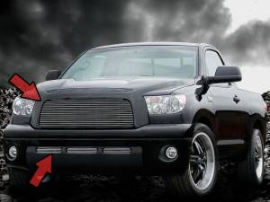 Dale's - Toyota 2007-2009 Tundra (Complete Set) Polished Aluminum Billet Grilles (Logo No Show)