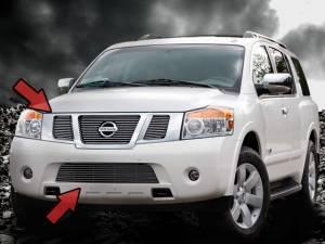 Dale's - Nissan 2008-2011 Armada (Complete Set) Polished Aluminum Billet Grilles