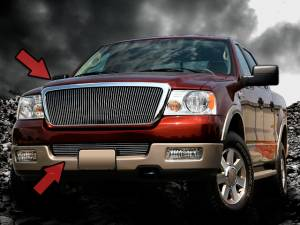 Dale's - Ford 2004-2008 F150 (Complete Set) Polished Aluminum Vertical Billet Grilles