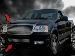 Dale's - Ford 2005-2008 F150 (Complete Set) Polished Aluminum Billet Grilles (No Show Logo)