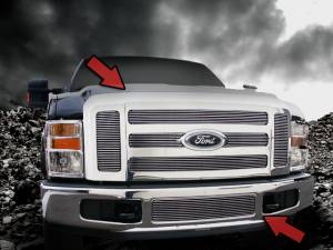 Dale's - Ford 2008-2010 F250|F350 (Complete Set) Polished Aluminum Billet Grilles