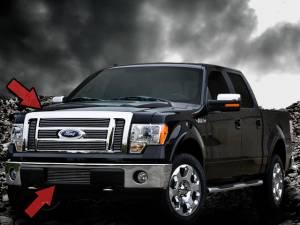 Dale's - Ford 2009-2012 F150 (Complete Set) Polished Aluminum Billet Grilles