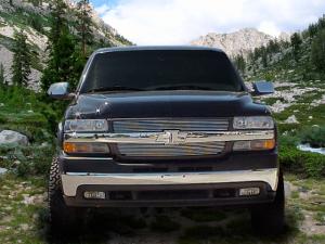 Dale's - C65702A - Dale's Main Upper Polished Aluminum Billet Grille - '01-02 Chevy Silverado 2500, Silverado 3500