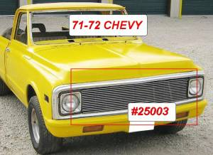 Dale's - Chevy 1969-1972 Blazer (Main) Polished Aluminum Billet Grille