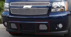 Dale's - Chevy 2007-2011 Avalanche (Lower Bumper) Polished Aluminum Billet Grilles
