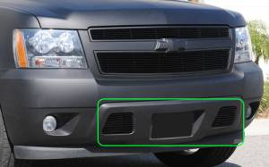 Dale's - Chevy 2007-2011 Avalanche (Lower Bumper) Black Powder Coated Billet Grilles
