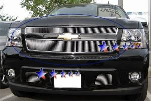 Dale's - Chevy 2007-2011 Avalanche (Main & Upper) Polished Aluminum Vertical Billet Grilles