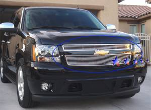 Dale's - Chevy 2007-2011 Avalanche (Main & Upper) Polished Aluminum Billet Grilles