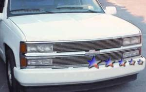 Dale's - Chevy 1994-1999 C/K Pickup (Phantom Style) Polished Aluminum Billet Grilles