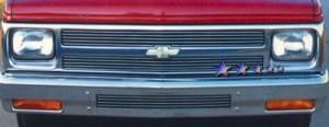 Dale's - Chevy 1991-1993 S10 Blazer (Main & Upper) Polished Aluminum Billet Grilles