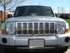 Dale's - Jeep 2006-2010 Commander (Main|7 Sections) Polished Aluminum Billet Grilles