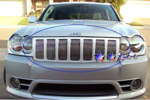 Dale's - Jeep 2005-2008 Grand Cherokee (Main|8 Section) Polished Aluminum Billet Grille