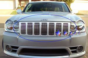 Dale's - Jeep 2009-2010 Grand Cherokee (Main|7 Sections) Polished Aluminum Billet Grille