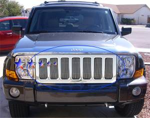 Dale's - Jeep 2008-2011 Liberty (Main|7 Sections) Polished Aluminum Billet Grilles