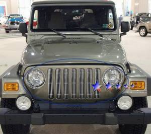 Dale's - Jeep 1997-2006 TJ Wrangler (Main|7 Sections) Polished Aluminum Billet Grilles
