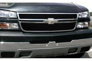 Dale's - C65717H - Dale's Main Upper Black Powder Coated Aluminum Billet Grille - '2003-2004 Chevy Silverado 2500, Silverado 3500