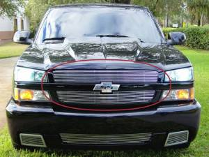 Dale's - Chevy 2006 Silverado 1500 SS (Main & Upper) Polished Aluminum Billet Grilles