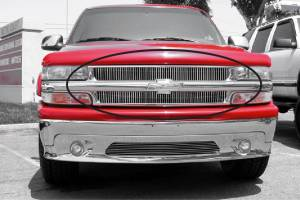 Dale's - Chevy 1999-2002 Silverado 1500 (Main & Upper) Polished Aluminum Vertical Billet Grilles