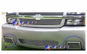 Dale's - Chevy 2007-2010 Silverado 1500 (Bumper) Fog Light Polished Aluminum Billet Grilles