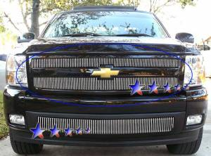 Dale's - Chevy 2007-2010 Silverado 1500 (Lower Bumper) Polished Aluminum Vertical Billet Grille