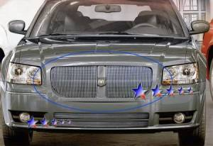 Dale's - Dodge 2005-2007 Magnum (Main|2 Section) Polished Aluminum Vertical Billet Grilles