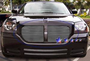 Dale's - Dodge 2005-2007 Magnum (Main|2 Section) Polished Aluminum Billet Grilles