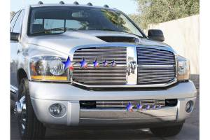 Dale's - Dodge 2006-2008 Ram (Lower Bumper|Tow Hook Show) Polished Aluminum Billet Grille