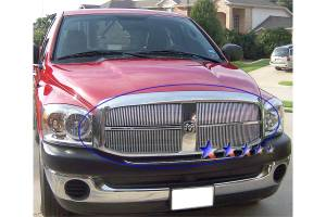 Dale's - Dodge 2006-2008 Ram (Main|4 Section) Polished Aluminum Vertical Billet Grilles