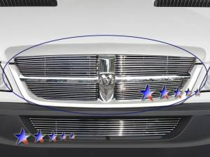 Dale's - Dodge 2007-2010 Sprinter (Main|4 Section) Polished Aluminum Billet Grilles