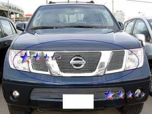 Dale's - Nissan 2008-2011 Pathfinder (Main|3 Section) Polished Aluminum Billet Grilles